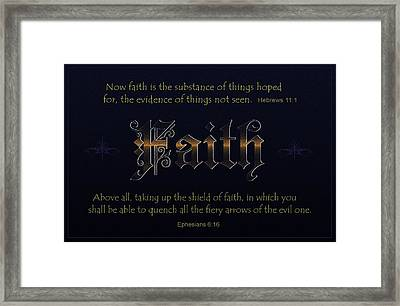 Steadfast Faith Framed Print by Greg Long