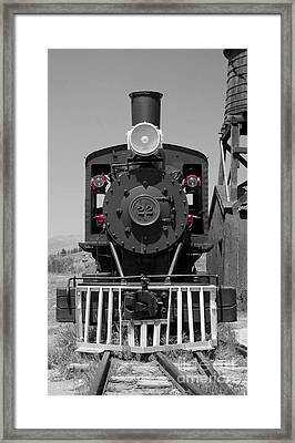 Framed Print featuring the photograph Steam Engine Train by Deniece Platt