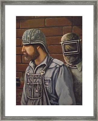 Steam Fitter And Welder Framed Print by James Guentner