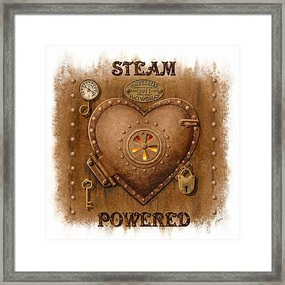 Steam Powered Heart Framed Print