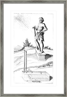Steam-powered Musical Garden Ornament Framed Print by Library Of Congress