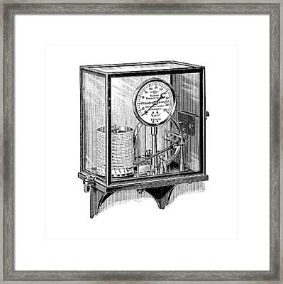 Steam Pressure Gauge And Recorder Framed Print by Mark Sykes