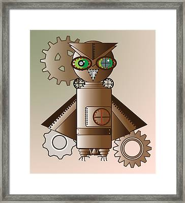 Steam Punk Robot Owl Framed Print
