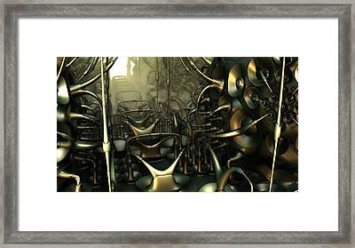 Steam Punk Roller Coaster Framed Print by Hal Tenny