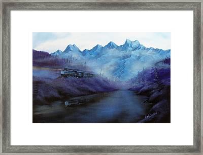 Steam  Smoke And Mist Framed Print by Verna Coy