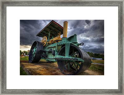 Steam Tractor Framed Print by Eric Gendron