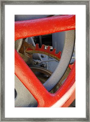 Steam Tractor Gear Detail Framed Print