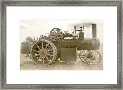 Steam Tractor Framed Print by Kevin Felts