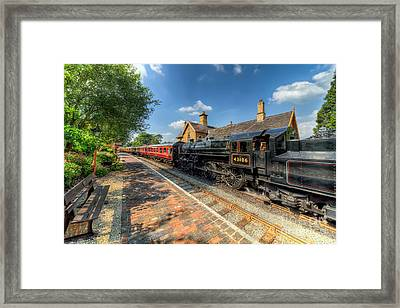 Steam Train Framed Print by Adrian Evans