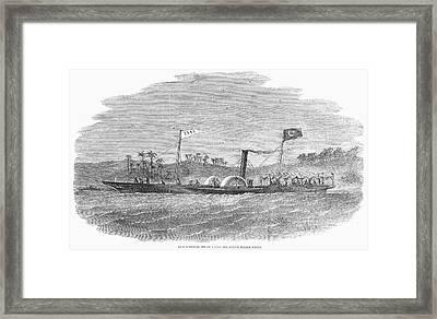 Steam Yacht, 1857 Framed Print