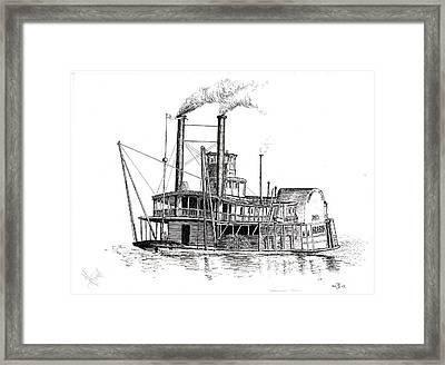 Steamboat Bill   The Arabia Framed Print by John Simlett