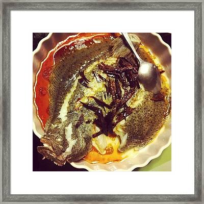 #steamed #talbot #dried #tangerine Framed Print