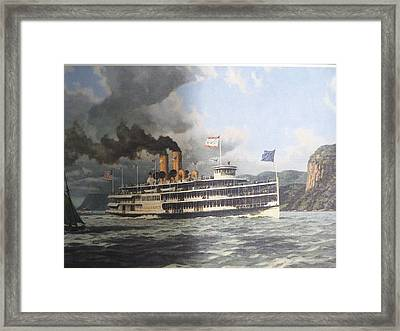 Steamer Alexander Hamilton William G Muller Framed Print by Jake Hartz