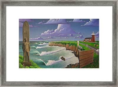 Steamer Lane Framed Print