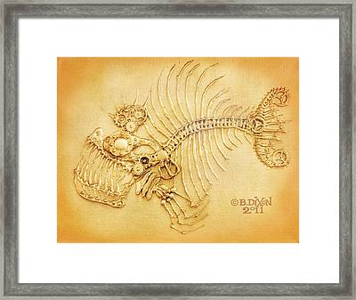 Steamfish 4 Framed Print by Baron Dixon