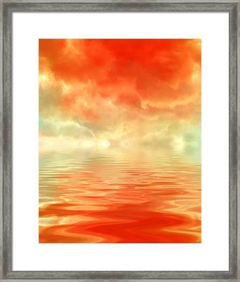 Steaming Home Framed Print