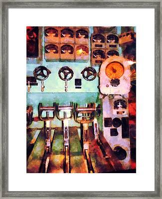 Steampunk - Electrical Control Room Framed Print