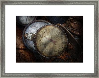 Steampunk - Gauge For Sale Framed Print by Mike Savad