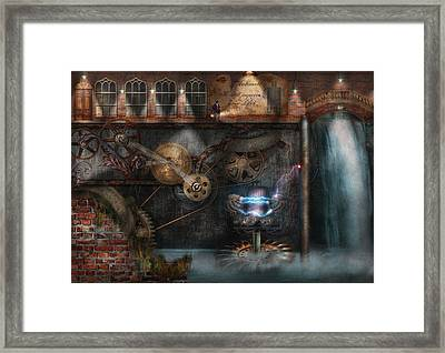 Steampunk - Industrial Society Framed Print by Mike Savad