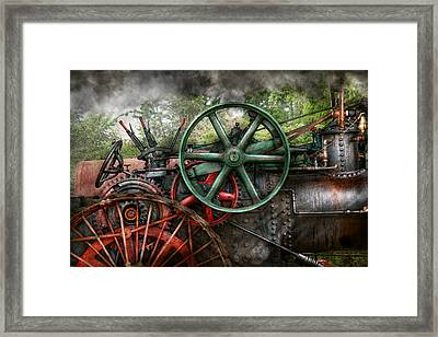Steampunk - Machine - Transportation Of The Future Framed Print by Mike Savad