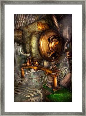 Steampunk - Naval - Shut The Valve  Framed Print