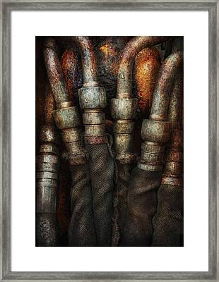 Steampunk - Pipes Framed Print by Mike Savad