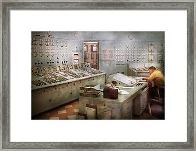 Steampunk - Retro - The Power Station Framed Print by Mike Savad