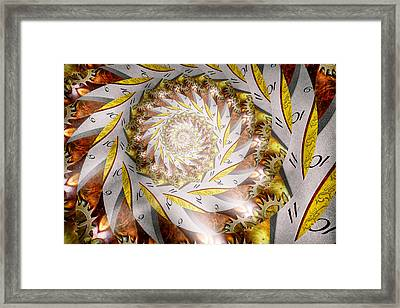 Steampunk - Spiral - Time Iris Framed Print by Mike Savad