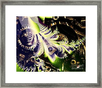 Steampunk Abstract Fractal . S2 Framed Print