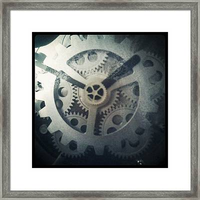 #steampunk #gears #clock #webstagram Framed Print by KLH Streets Photography