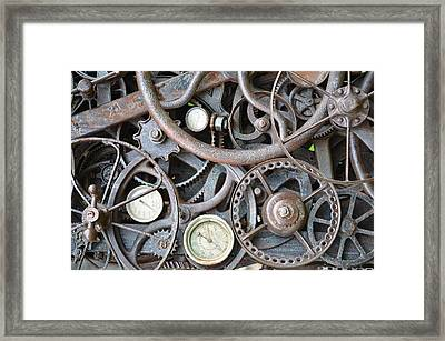 Steampunk Gears Framed Print by Mandi Howard