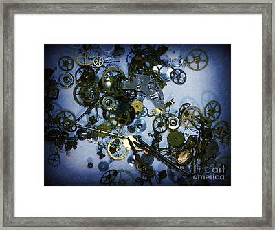 Steampunk Gears - Time Destroyed Framed Print by Paul Ward