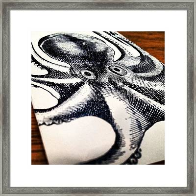 #steampunk #octopus #vintage Framed Print