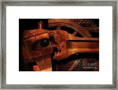 Steampunk Part Number 93063 Ghost In The Machine Framed Print by Wingsdomain Art and Photography