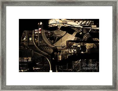 Steampunk Patent 1215 Prototype A . Gold Version Framed Print by Wingsdomain Art and Photography