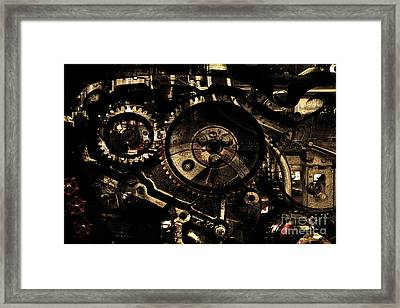 Steampunk Personal Decompression Chamber Model 39875da78803 Fully Accessorized . Gold Plated Luxury  Framed Print by Wingsdomain Art and Photography