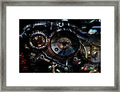 Steampunk Personal Decompression Chamber Model 39875da78803 Fully Accessorized Framed Print by Wingsdomain Art and Photography