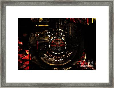Steampunk Port Huron Steam Engine Washer Model8613 . A Luxury For The Little Lady Of The House.sepia Framed Print by Wingsdomain Art and Photography