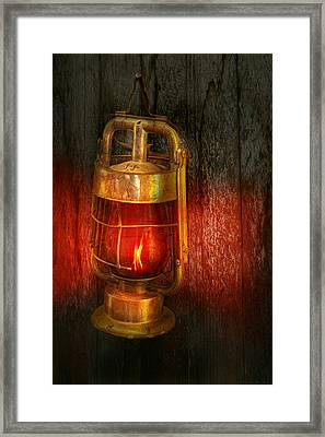 Steampunk - Red Light District Framed Print by Mike Savad