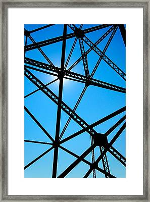 Framed Print featuring the photograph Steampunk Sky Web by Trever Miller