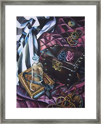 Steampunk Still Life Framed Print by Lori Keilwitz
