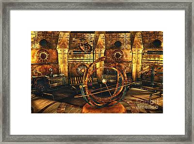 Steampunk Time Lab Framed Print by Jutta Maria Pusl