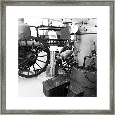 #steampunk #wheel Framed Print