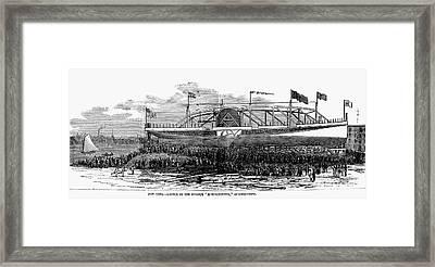 Steamship Launch, 1876 Framed Print