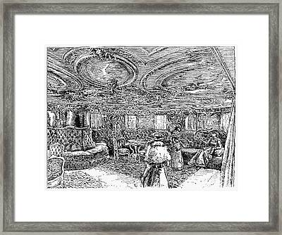 Steamship Salon, C1890 Framed Print