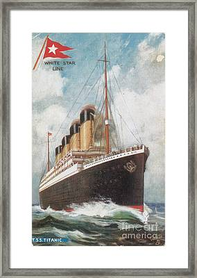 Steamship Titanic Framed Print by Photo Researchers