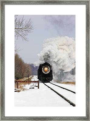 Steamtown Excursion Train Framed Print by Michael P Gadomski and Photo Researchers