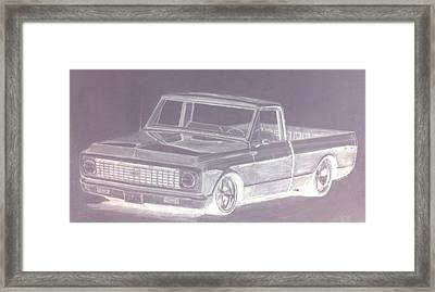 Steel 72 Framed Print by Bradley   Howell