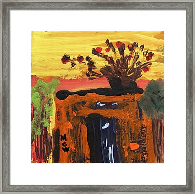 Steel And Sparks Framed Print by Mary Carol Williams