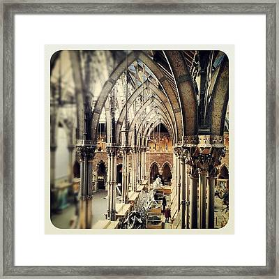 #steel #arch #architecture #museum Framed Print